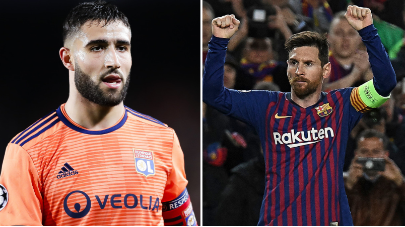 Lyon Captain Nabil Fekir Perfectly Sums Up What It's Like To Come Up Against Lionel Messi