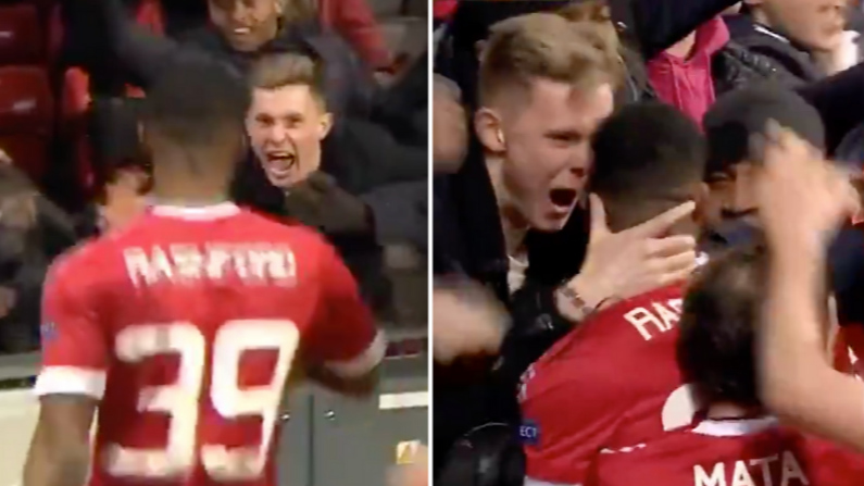Dean Henderson Was A Fan In The Crowd When Marcus Rashford Scored His First Ever Manchester United Goal